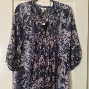 JOIE floral silk tunic dress (with matching slip)